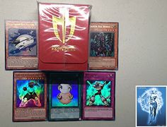 Collectible Trading Card Lots - YUGIOH Bulk Lot Containing 5 Ultra Rare Cards with FREE Deck Box and exclusive Phantasm Gaming Token ** To view further for this item, visit the image link.