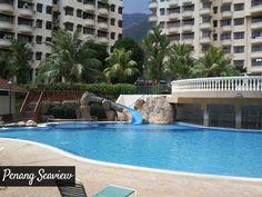 Kid's Slide and Paddling Pool at the Penang Seaview Apartment - Your Best Holiday Destination & Place to Stay when in Penang