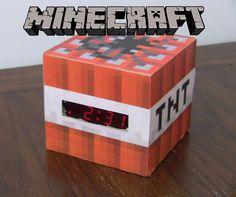 Minecraft TNT Clock #video_game #gaming #pixel