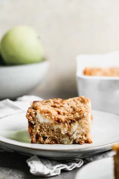 A delicious cinnamon Apple Coffee Cake with a surprise layer of cream cheese filling, and a simple streusel crumb topping. Apple Recipes, Baking Recipes, Dessert Recipes, Desserts, Cake Recipes, Apple Coffee Cakes, Apple Cake, Apple Deserts, Apples And Cheese