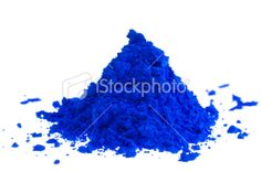 Blue Pigment Royalty Free Stock Photo