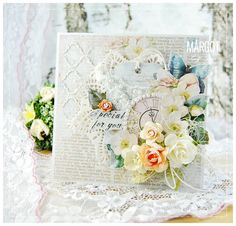 Scrap & Craft: Special for you ... using products from www.scrapandcraft.co.uk #cards #crafts #flowers #chipboard #studio75 #special