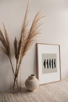 Living Room Decor, Bedroom Decor, Beige Living Rooms, Grass Decor, Aesthetic Rooms, Minimalist Art, Minimalist Poster, Diy Wall Decor, Printable Wall Art