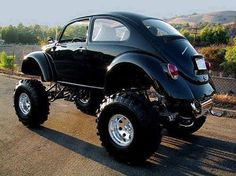 Black Monster Volkswagon Beetle
