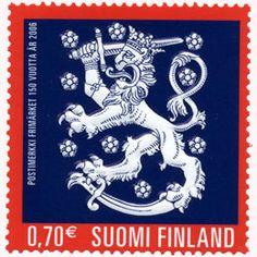 Postimerkki: Postimerkin juhla | Suomen postimerkit Stamp World, Love Stamps, Small Art, Stamp Collecting, Postage Stamps, Finland, Red And Blue, Bing Images, Color Combinations