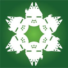 With winter upon us, we thought it would be fun to share a fun project of ours with you: snowflake designs with a Star Wars twist. Disney Christmas Decorations, Disney Christmas Shirts, Star Wars Christmas, Christmas Love, Christmas Ideas, Star Wars Snowflakes, Paper Snowflakes, Movie Themes, Snowflake Designs