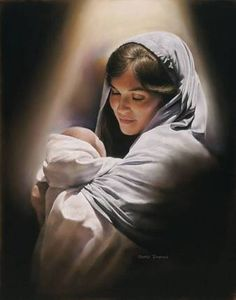 I believe in the blessed virgin Mary. Her being pregnant with Jesus was not planned by Joseph and Mary, but by almighty God. This humble Jewish girl chose to obey God and became the mother of Jesus. Catholic Art, Religious Art, Arte Lds, Jesus E Maria, Pictures Of Christ, Baby Jesus Pictures, Mother Mary Pictures, Lds Art, Mama Mary