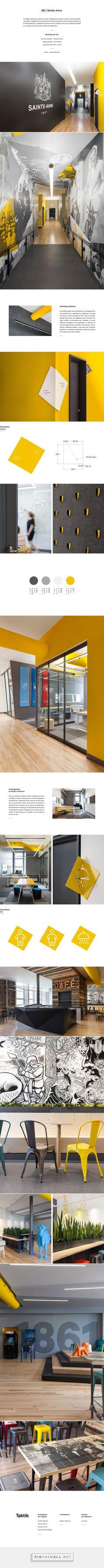 QG Sainte-Anne / signaletique/wayfinding - branding de lieu / space branding - by / par Marianne Girard & Sarah Dufour - for / pour Taktik Design