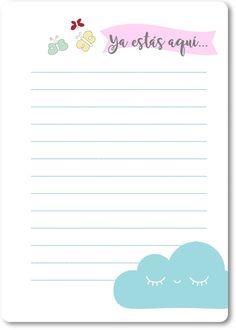 ¡Hola! Para todas las personas que me escriben desde lejos: ¡Un diario de embarazo para imprimir! Te dejo algunas páginas para q...