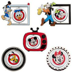 Disney Mickey Mouse Club Limited Edition 500 Spinner Pin Set - New In Box