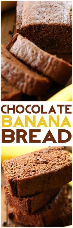 Chocolate Banana Bread... this recipe is DELICIOUS! It is super moist and the flavor is wonderful! The chocolate spin is fantastic!