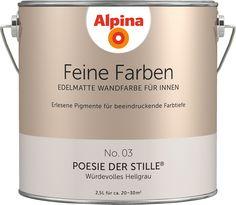 Premium-Wandfarbe. Grau, hellgrau: Alpina Feine Farben POESIE DER STILLE