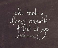 Sometimes you just have to let it go. Would love a different font, but this is beautiful.