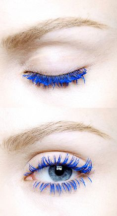 I used to wear blue mascara ALL the time in high school since it was one of our school spirit colors!