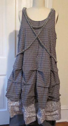 BREATHE  Fall Boho lagenlook layering tunic dress by Breathe1960, $125.00