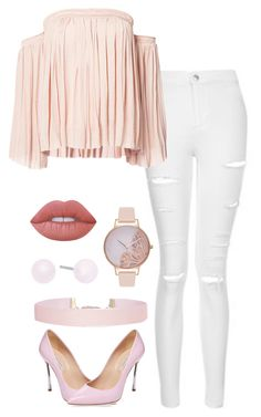 """""""Untitled #71"""" by katiejoe on Polyvore featuring Topshop, Elizabeth and James, Humble Chic, Michael Kors, Olivia Burton, Lime Crime and Casadei"""