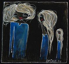 Koszulka Dziewczęca z ręcznie malowanym motywem - długi rękaw,  rozm 40