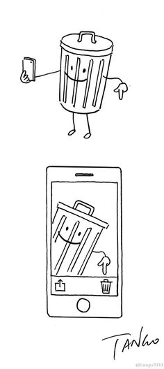 Funny, clever comics and illustrations by Shanghai Tango - 18 illustration Clever Illustrations That Take The Most Unexpected Turns Tango, Oc Manga, Funny Doodles, Little Doodles, Simple Cartoon, Funny Illustration, Funny Puns, Illustrations And Posters, Animal Illustrations