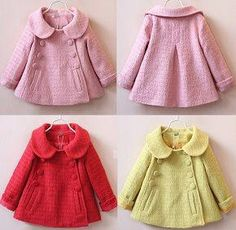 Beige Coat Months I Want It Materia - Diy Crafts - Marecipe Toddler Fashion, Kids Fashion, Baby Coat, Little Girl Dresses, Baby Sewing, Baby Knitting, Baby Dress, Doll Clothes, Kids Outfits