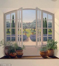 This Provencal window and scene give any home that je ne sais quoi