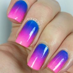 Instagram media by bri1703 -  blue & pink gradient I did this a couple weeks ago but forgot to post it. So kinda forgot what colours i used