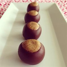 28 Incredible Paleo Candy Recipes: Paleo Buckeyes with Sunflower Seed Butter, Chocolate Chips