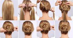 5 peinados fáciles con el cabello recogido paso a paso