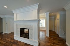 Best Pic double sided Fireplace Remodel Ideas In case a room has a hearth, it's usually the focal point of the room. Update the fireplace with c Dining Room Fireplace, Home Fireplace, Fireplace Remodel, Fireplace Design, Fireplace Ideas, Fireplaces, Two Sided Fireplace, Double Sided Fireplace, Fireplace Dimensions