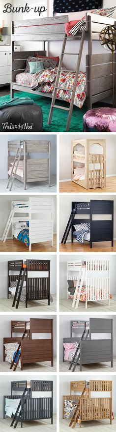 Searching for kids bedroom furniture that's stylish and a perfect fit for any sized room? Look no further. Our kids bunk bed is an essential pick for every girl's or boy's bedroom. It's available as a twin or full bed, and some styles even convert into individual kids beds. Plus, don't forget that a trundle bed can create extra room for sleepovers.