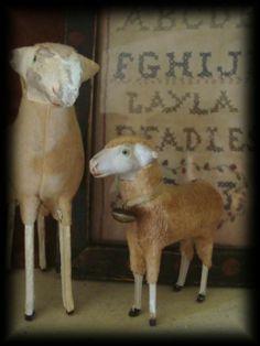 Antique putz sheep.