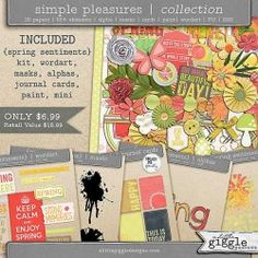 {Spring Sentiments} Collection | A Little Giggle Designs