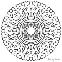 119 Printable Intricate Mandala Coloring Pages от KrishTheBrand
