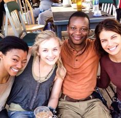 Behind the Scenes - Sasha, Beth, Bob, and Maggie of The Walking Dead