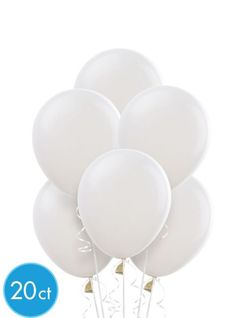 White Latex Balloons 20ct - Party City $2.99