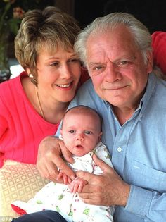 david jason with wife and baby Detective, Ronnie Barker, Open All Hours, David Jason, Only Fools And Horses, British Comedy, The Good Old Days, I Laughed, Actors & Actresses