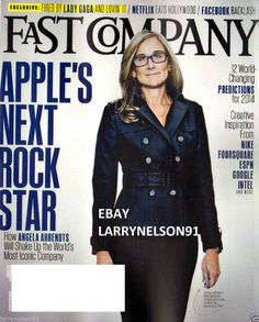 FAST COMPANY MAGAZINE FEBRUARY 2014 APPLE'S NEXT ROCK STAR ANGELA AHRENDTS IPAD