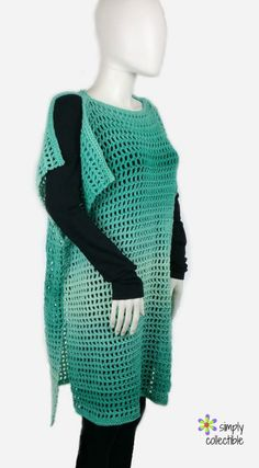 Another absolute favorite with this crochet tunic pattern – Coraline's Endless Summer! It's a Cover-up, too! SimplyCollectibleCrochet.com http://simplycollectiblecrochet.com/2017/06/crochet-tunic-pattern-coralines-endless-summer/