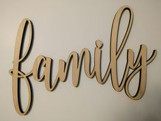 Family Laser Cut Wood Word by CarismaVinyl on Etsy
