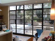 Crittall Steel Doors installed by Lightfoot Windows (Kent) Ltd to let light into the home<br> Green Windows, Windows And Doors, Bungalow Renovation, Industrial Windows, 1930s House, Narrow House, External Doors, Patio Doors, Crittall Windows
