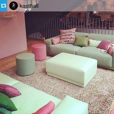 I love this pastel & bubblegum colour come as seen at the #Vitra showroom in Clerkenwell. Hand Tufted Tekla Fudge Rug by #Kasthall