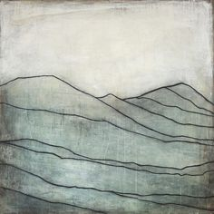 """""""Blue Mountain I"""" ~Karine Leger #art #painting #abstract"""