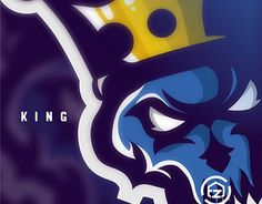 "Check out new work on my @Behance portfolio: ""BLUE KING 