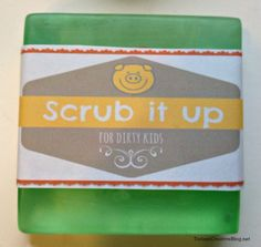 Making soap for kids - so cute and easy!  Can't wait to try this with the girls