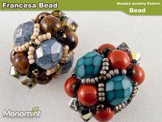 Beaded Bead Pattern PDF  Francesa Bead by Monomint on Etsy