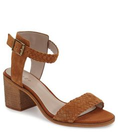 hinge suede woven sandal
