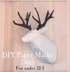 Imperfectamente imaginable: DIY papel maché cabeza de los ciervos por alrededor de $ 20