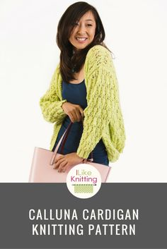 This is a lace and texture cardigan inspired by succulent plants. The ribbing within the pattern gives the garment stretch. Because there is minimum shaping within the lace pattern, it's a good pattern even for beginners.