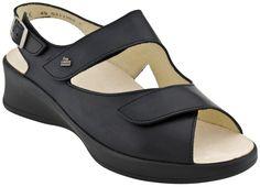 Finn Comfort Djerba 3703 Women's Sandals (Black Nappa)