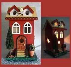Night Light Lamp Duplex Townhouse by RFClocksandLights on Etsy