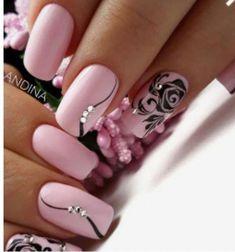 Fall Nail Designs - My Cool Nail Designs Pink Gel Nails, Purple Nails, Bright Nails, Elegant Nails, Stylish Nails, French Nails, Perfect Nails, Gorgeous Nails, Fall Nail Art Designs
